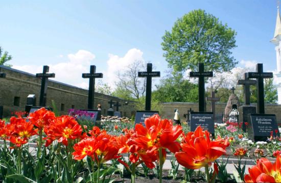 На старинном монастырском кладбище