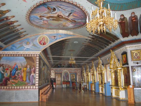 В церкви «Всех преподобных отцов Печерских»