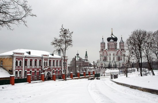 Пантелеимоновский монастырь зимой