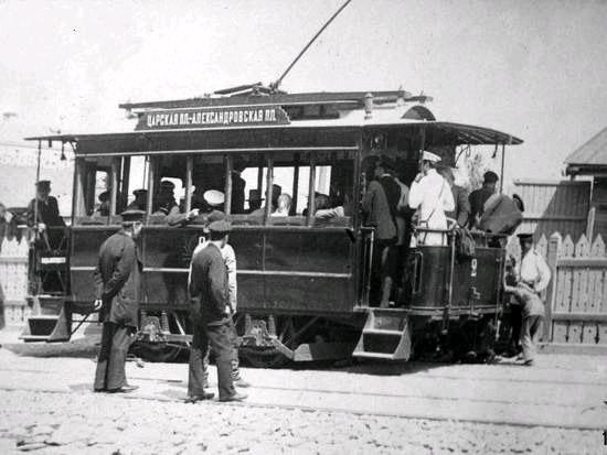 Так выглядел первый киевский трамвай