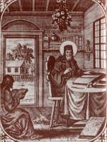 Нестор Летописец. Старинная гравюра