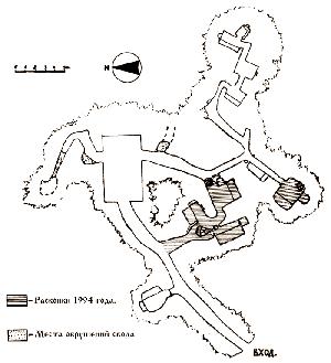 План-схема Китаевских пещер