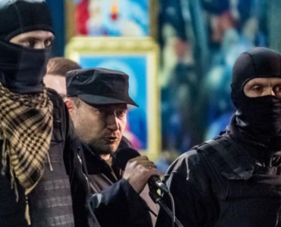 Кандидат в Президенты Украины, лидер «Правого сектора» Д. Ярош