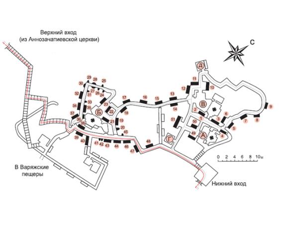 план Дальних пещер