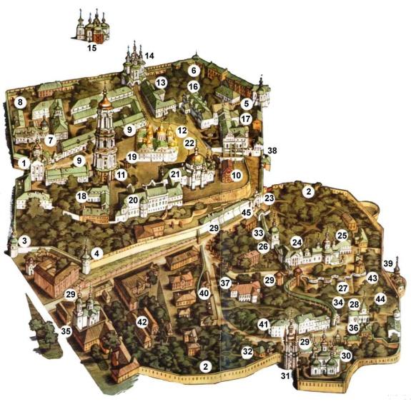 Для увеличения схемы Киево-Печерской Лавры нажмите на нее
