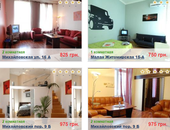 аренда апартаментов