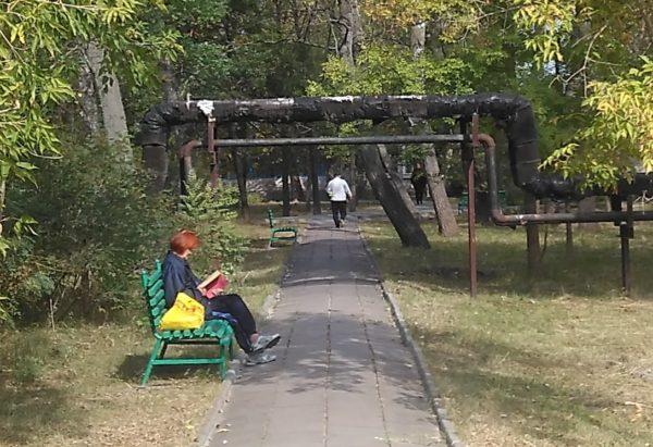 Индустриальные пейзажи в парке санатория