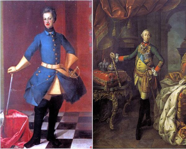Карл Фридрих Гольштейн-Готторпский  и его сын Карл Петер Ульрих Гольштейн-Готторпский (Петр III)