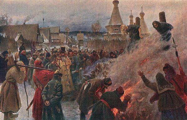 Сожжение протопопа Аввакума (картина художника П. Мясоедова)