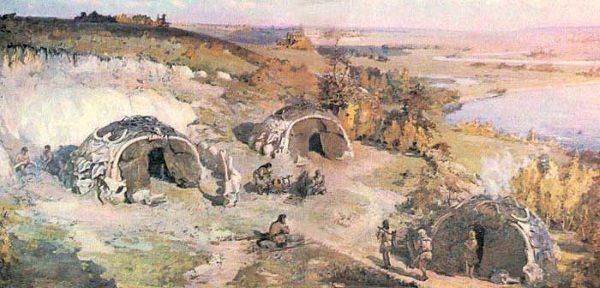 Кирилловская стоянка - художественная реконструкция