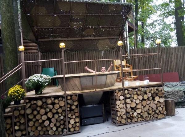 баня с чаном под Киевом